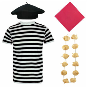 Adults French Mime Artist Costume Set