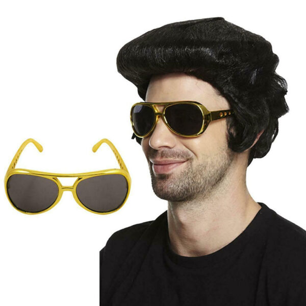 Elvis Wig Glasses Set 1