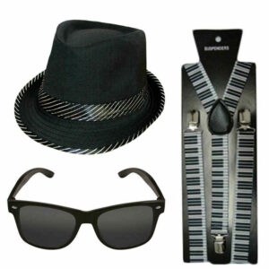 Adults 20s Gatsby Gangster Accessory Kit
