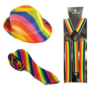 Adult Gay Pride Gangster Accessory Set
