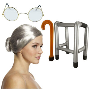 Old Lady Grandma Costume Accessory Set