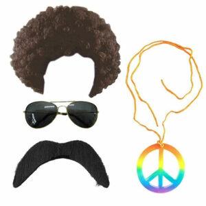 Mens 60s Hippie Costume Accessory Set