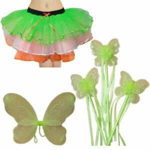 Irish Lady Tutu Skirt Fairy Wing Wand Kit
