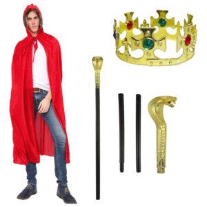 Mens King Prince Costume Set