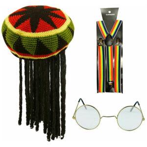 Adults Jamaican Costume Accessory Set