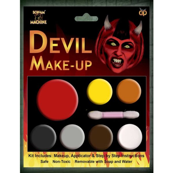 Devil Multi Pallet Makeup Face Body Paint for Halloween costumes Evil Reaper makeup dress up