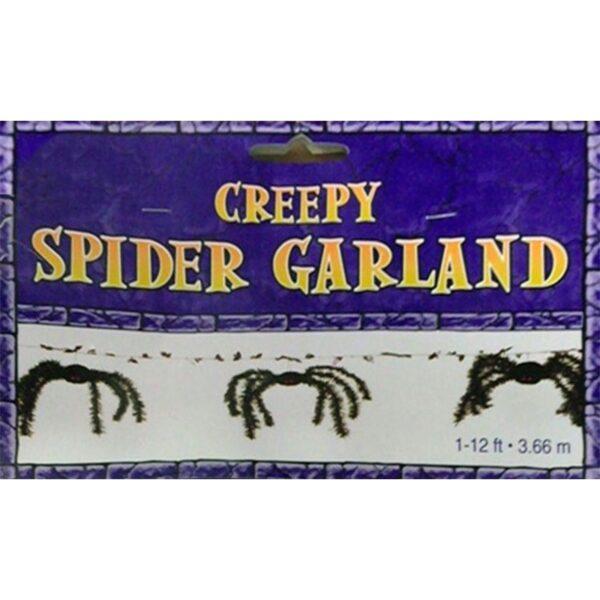 Creepy Spider Garland Halloween Banner