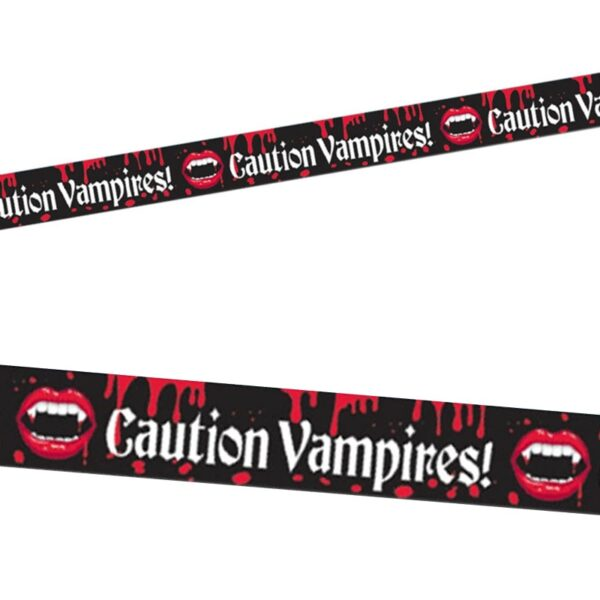 Vampire Blood Bite Caution Tape for Halloween party decoration