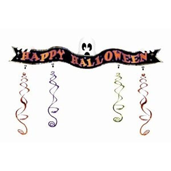 Happy Halloween Ghost Banner