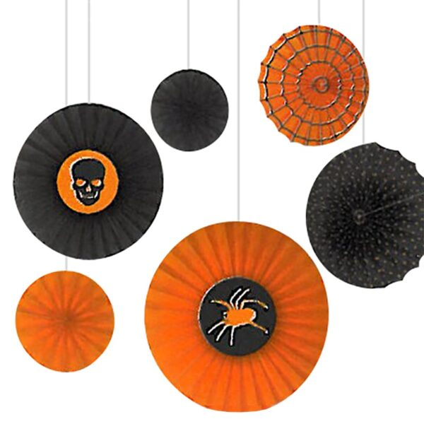 Halloween Party Paper Fan Decorations