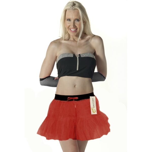2 Layers Red Devil Tutu Skirt for women
