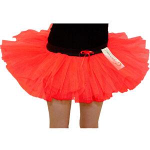 Girls 3 Layers Red Devil TuTu Skirt