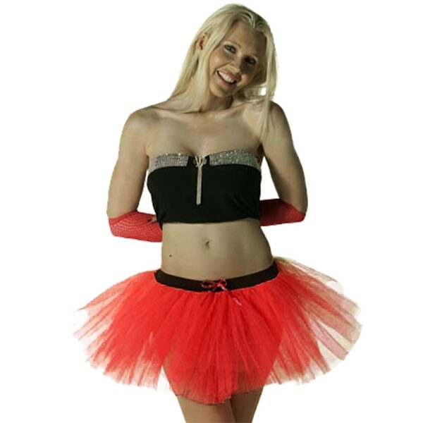 3 Layers Red Devil Tutu Skirt for women