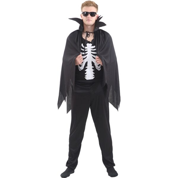 Skeleton Cape Costume for Halloween Party