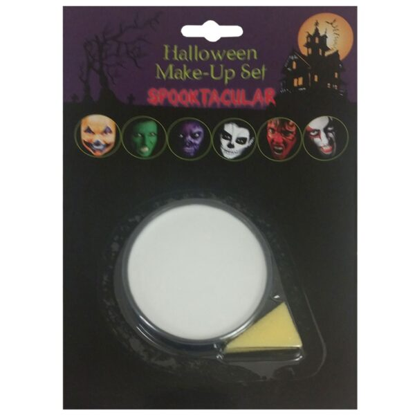 White Base Makeup for Halloween Costumes scary clown Fancy Dress up