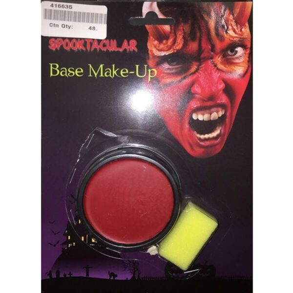 Red Base Face Body Paint for Halloween costumes devil vampire makeup dress up