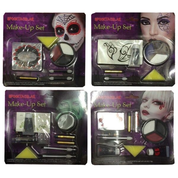 FX Makeup Set 4 assorted for Halloween costumes skeleton zombie face body paints dress up