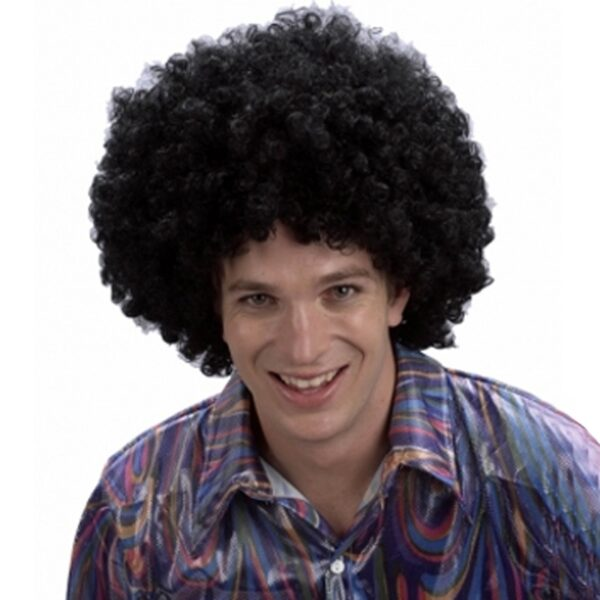 Black Afro Wig for Halloween costumes Circus Clown Scary Joker fancy dress up