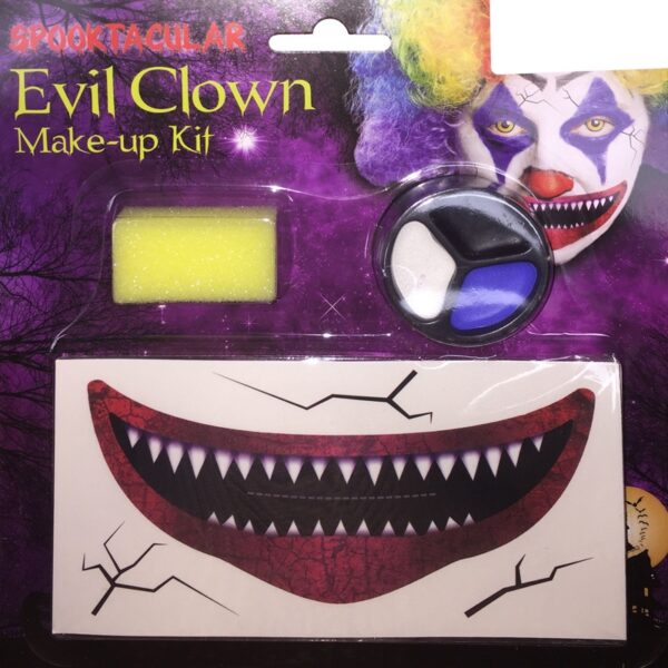 Evil Clown Makeup Set for Halloween costumes Pennywise Joker face and body paint dress up