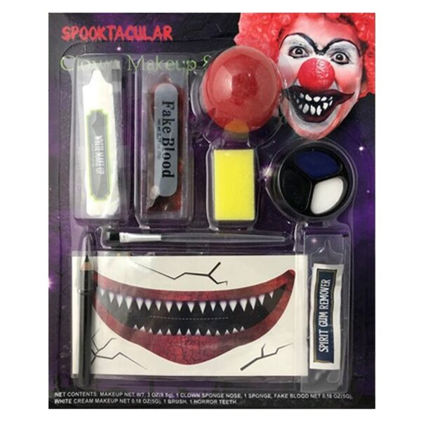 Scary Clown Makeup Kit for Halloween Costumes Pennywise Joker Fancy Dress up