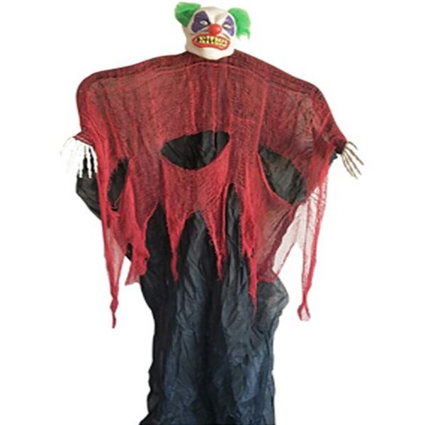 BO Hanging Clown With Light Sound 210cm for Halloween Carnival Party Decorations