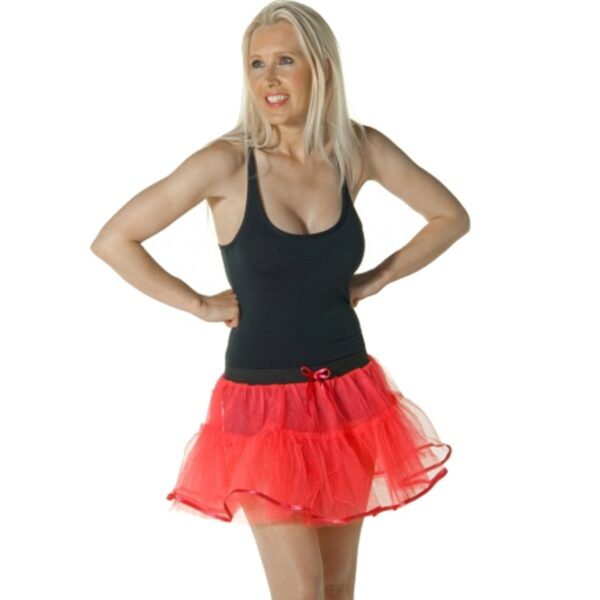 4 Layers Red Devil Tutu Skirt