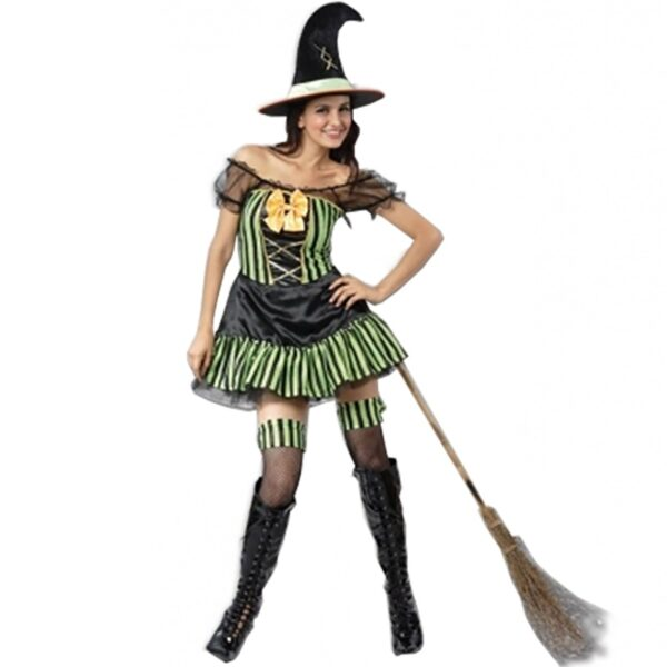 Colored Witch Costume for Women
