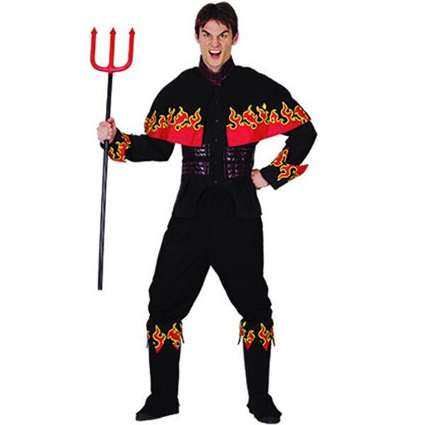 Halloween Flaming Devil Costume for men