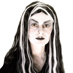 Morticia with Streaks Wig