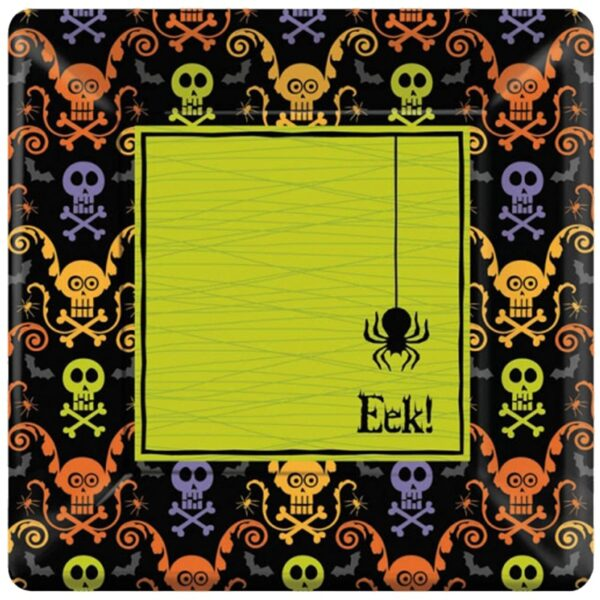 Happy Halloween Spooky Paper Plates