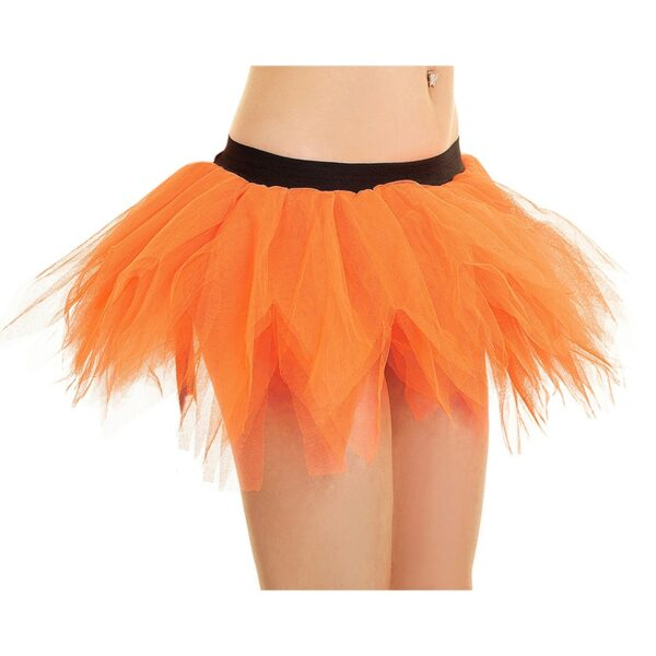 Orange Petal Pumpkin Tutu Skirt for Halloween