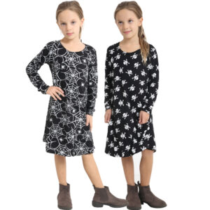 Girls Halloween Swing Dress