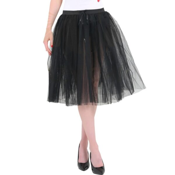 Halloween 3 Layers Black Tutu Skirt for women