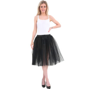 3 Layers Black Long TuTu Skirt 25 Inches