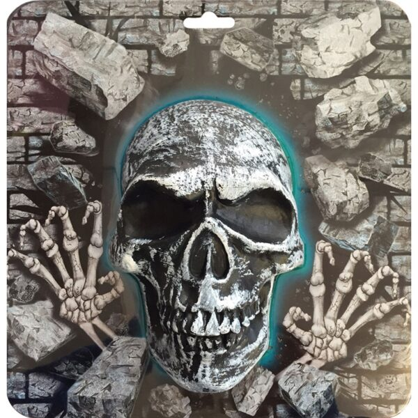 3d skull plaque for Halloween party decoration