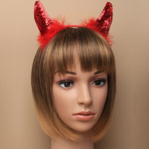Red Sequin Devil Horns Aliceband
