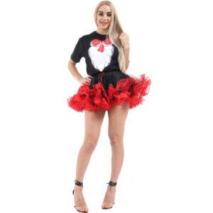 Black/Red Burlesque Ruffle TuTu Skirt