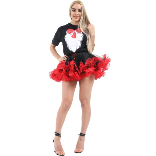 Halloween Burlesque Ruffle Tutu Skirt for women