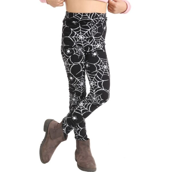 Girls Spider Print Leggings for Halloween party costumes dress up