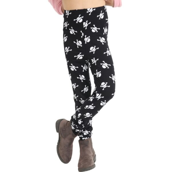 Girls Skull Print Leggings for Halloween party costumes dress up