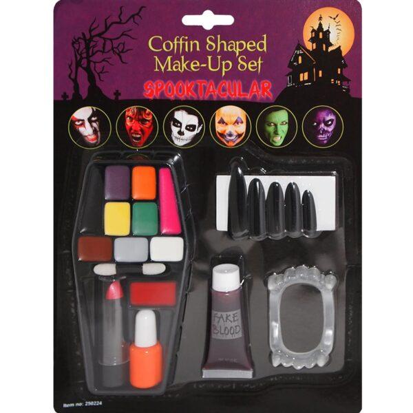 Casket Makeup Set Face Body Paint for Halloween costumes devil makeup dress up