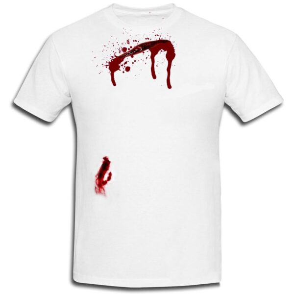 Bleeding Scar Printed T-Shirt for Halloween Zombie Dress Up
