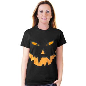 Halloween Pumpkin Black T-Shirt