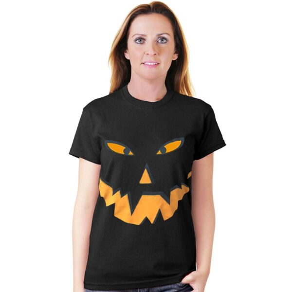 Black Pumpkin T-Shirt for Halloween Dress Up