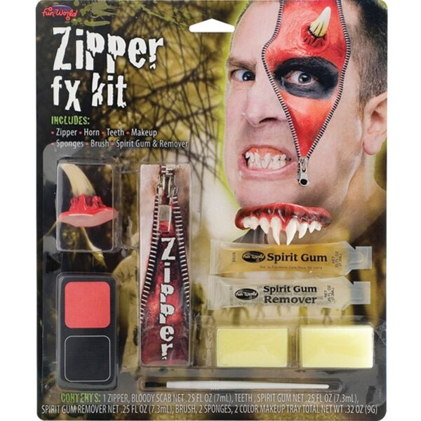 Devil Deluxe Zipper Character Kit Face Body Paints for Halloween costumes Devil makeup dress up