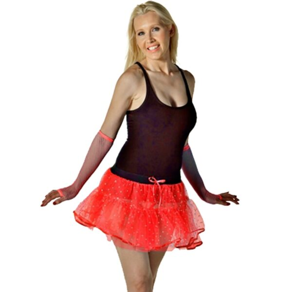 Halloween Red Sequin Devil Tutu Skirt for women