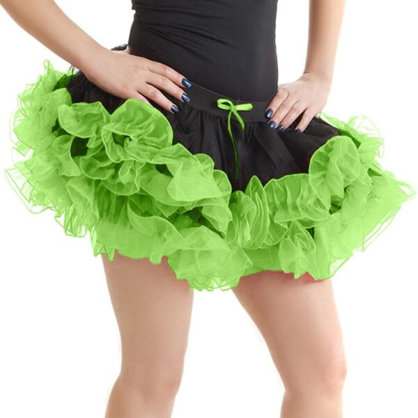 Black/Green Halloween Skirt for women