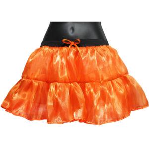 Orange Satin TuTu Skirt