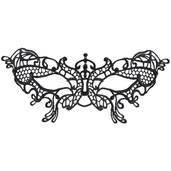 Black Lace Butterfly Eye Mask for Halloween fancy dress up