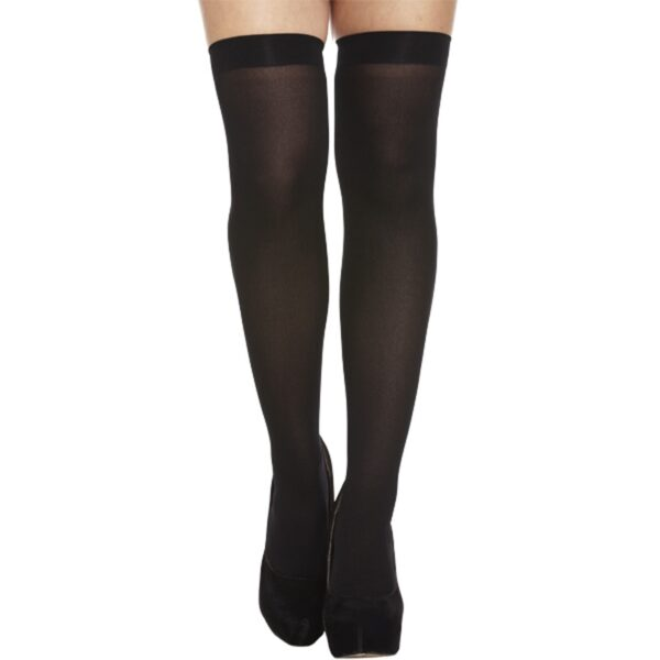 Black Hold Up Stockings for women Halloween costumes Nun fancy dress up